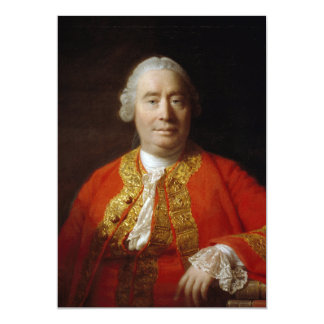 David Hume by Allan Ramsay (1766) 13 Cm X 18 Cm Invitation Card