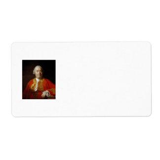 David Hume by Allan Ramsay (1766) Shipping Label