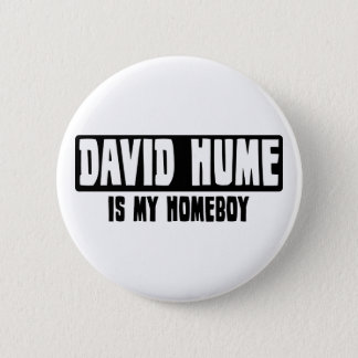 David Hume is my Homeboy 6 Cm Round Badge