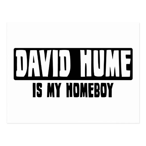 David Hume is my Homeboy Postcard