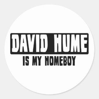 David Hume is my Homeboy Round Sticker