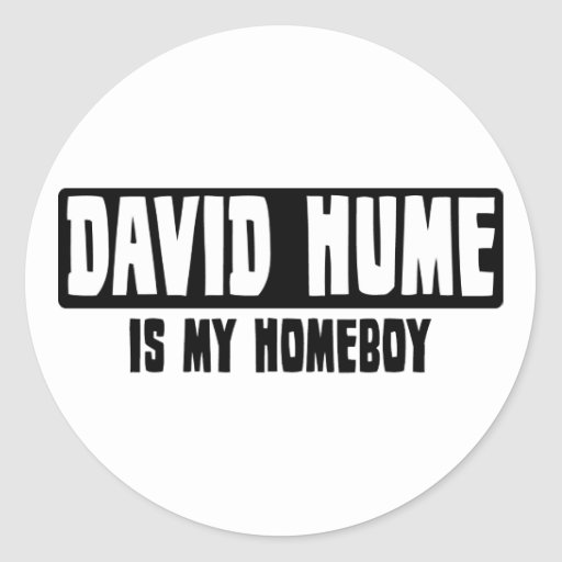 David Hume is my Homeboy Sticker