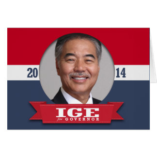DAVID IGE CAMPAIGN GREETING CARD