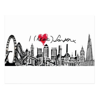 David K Parker's I (Heart) London x Postcard