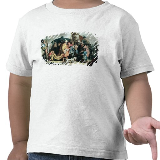 David Offering the Head of Goliath to King Saul Tshirts