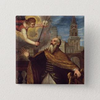 David (oil on panel) 15 cm square badge