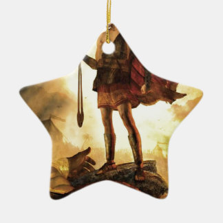 David slays Goliath Ceramic Star Decoration