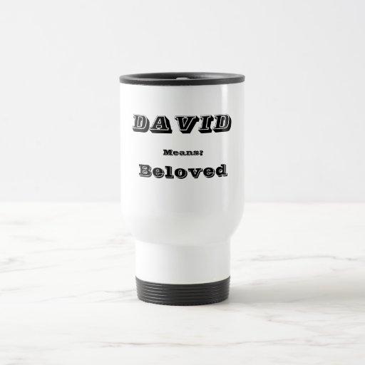 David Stainless Steel Travel Mug