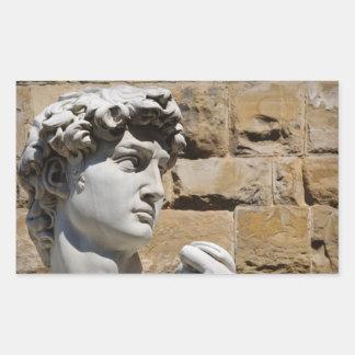 David Statue in  Florence Italy Rectangular Sticker