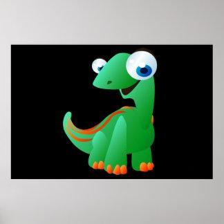 David The Dinosaur Poster