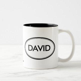 David Two-Tone Coffee Mug