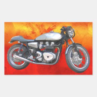 David Vasquez Motorcycle Rectangle Stickers