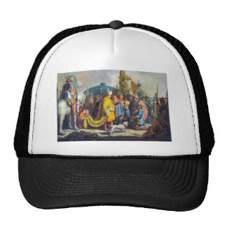 David with Goliath before Saul by Rembrandt Hats