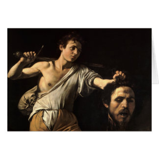 David with the Head of Goliath, Caravaggio Card