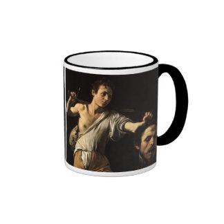David with the Head of Goliath, Caravaggio Mugs