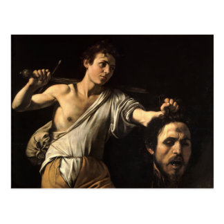David with the Head of Goliath, Caravaggio Postcard