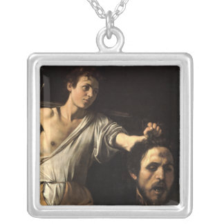 David with the Head of Goliath, Caravaggio Silver Plated Necklace