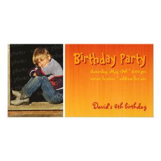 David's Birthday Party Photo Invitation Photo Greeting Card