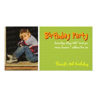 David's Birthday Party Photo Invitation Picture Card