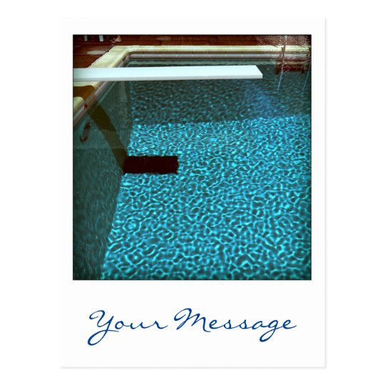 David's Pool 0916 Custom 3d Computer Art postcard
