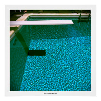 DAVID'S POOL SERIES p09- 3D Computer ART - 32x32 Poster