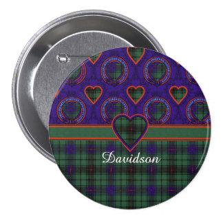 Davidson clan Plaid Scottish tartan 7.5 Cm Round Badge