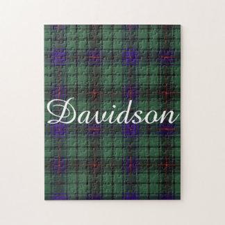 Davidson clan Plaid Scottish tartan Jigsaw Puzzle