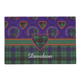 Davidson clan Plaid Scottish tartan Laminated Placemat