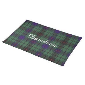 Davidson clan Plaid Scottish tartan Placemat