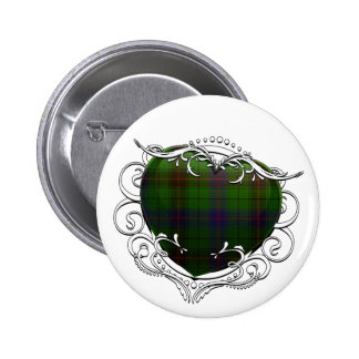 Davidson Tartan Heart 6 Cm Round Badge