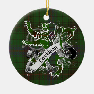 Davidson Tartan Lion Christmas Ornament