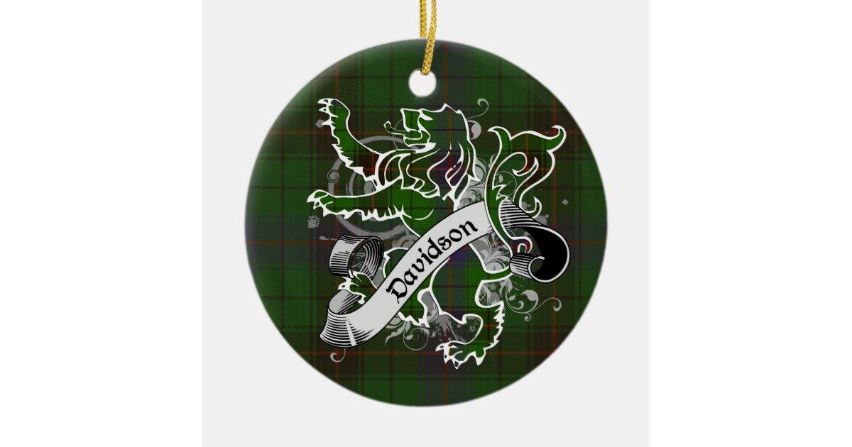 Davidson Tartan Lion Christmas Ornament | Zazzle.co.uk