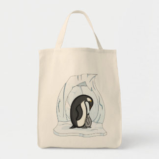 Davin and Annie the Penguins Light Tote Bag