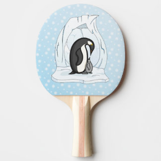 Davin and Annie the Penguins Ping Pong Paddle