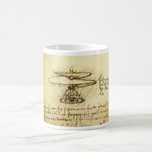 Davinci Helicopter design Classic White Coffee Mug