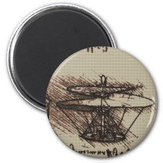 DAVINCI HELO Cross Stitch Design 6 Cm Round Magnet