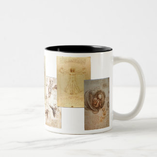 Davinvi's Study of Anatomy Two-Tone Coffee Mug