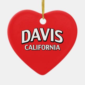 Davis California Ceramic Heart Decoration