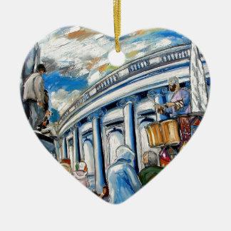 davis monument dame street dublin ceramic heart decoration