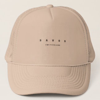 Davos Switzerland Trucker Hat