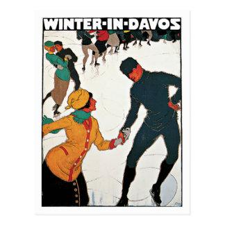 Davos Switzerland Winter Vintage Postcards