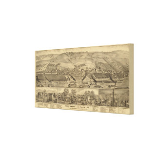 Davosburgh coal works canvas print