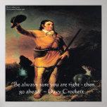 "Davy Crocket ""Go Ahead..."" Wisdom Quote Poster"