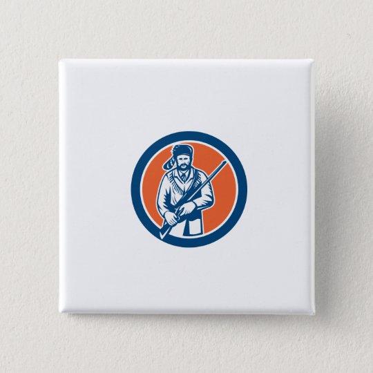 Davy Crockett American Frontiersman 15 Cm Square Badge