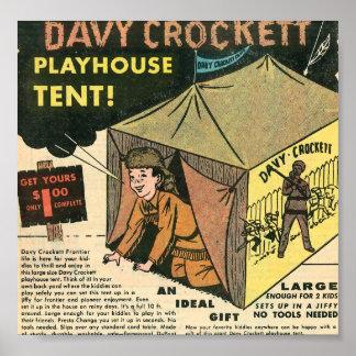Davy Crockett Playhouse Tent Poster