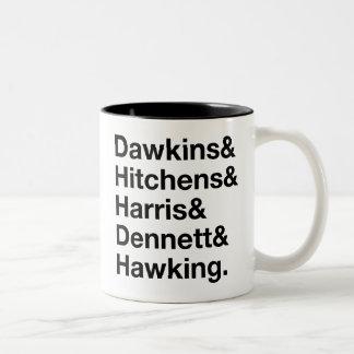 Dawkins&Hitchens&Harris&Dennett&Hawking - Science Two-Tone Coffee Mug