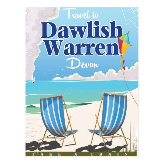 Dawlish Warren Devon vintage train poster Postcard