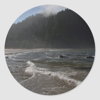 Dawn and Seascape Round Stickers