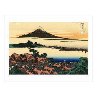 Dawn at Isawa in Kai Province Post Card