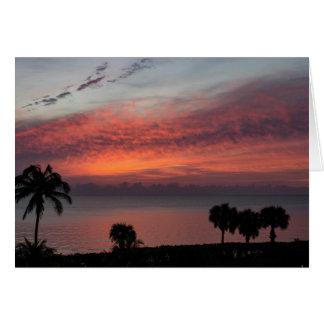 Dawn at Jupiter Beach Card